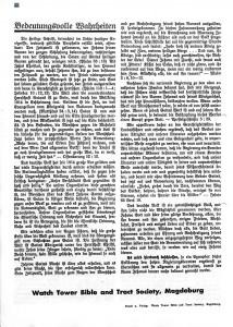Seite 4 der an HITLER gerichteten Erklärung der ZEUGEN JEHOVAS