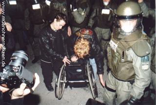 Behinderte bei Demonstration