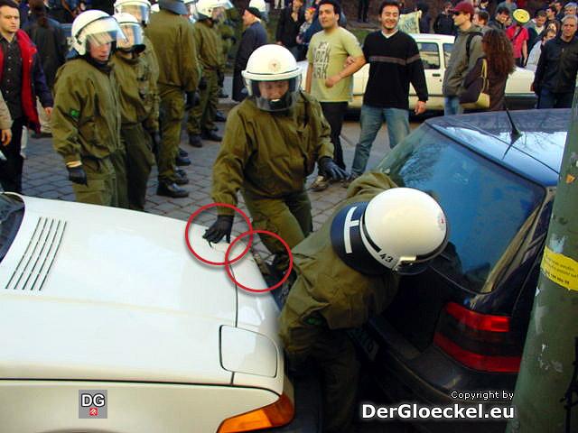 Sachbeschädigung durch die Polizei