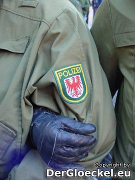 Polizeikräfte aus Brandenburg