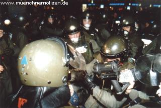Der Greiftrupp der Polizei