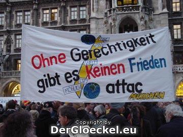 """""""Ohne Gerechtigkeit gibt es keinen Frieden"""""""