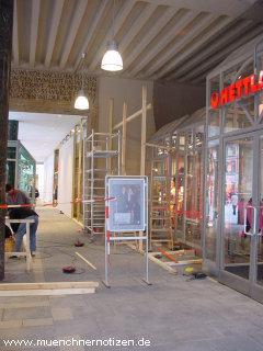 Portal- und Auslagenschutz im Zentrum Münchens
