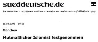 Faksimile aus sueddeutsche.de
