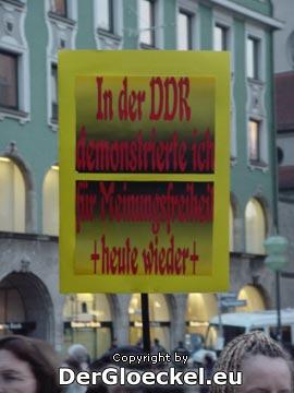 """""""In der DDR demonstrierte ich für Meinungsfreiheit heute wieder"""""""