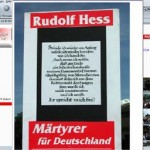 Website einer NPD-Ortsgruppe - NPD und Rudolf Hess