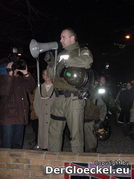 Aufforderung der Polizei zur Räumung