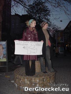 zuvor schweigender Protest