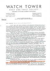 Seite 1 des Briefes der ZEUGEN JEHOVAS an HITLER