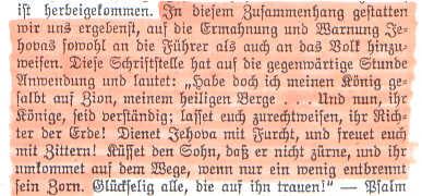 Aus der Erklärung der ZEUGEN JEHOVAS - 1933 an Adolf HITLER gerichtet