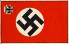 Handelsflagge mit eisernen Kreuz