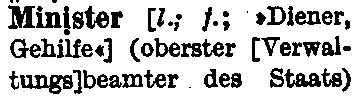 Faksimile aus dem DUDEN, 13. Auflage 1952