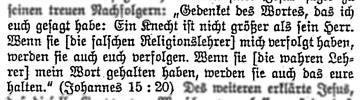Johannes 15:20 aus der ZJ-Erklärung 1933