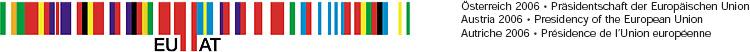 Das offizielle Logo der österreichischen EU Ratspräsidentschaft