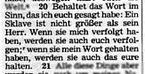 Johannes 15:20 revidiert ZJ-Bibel 1985