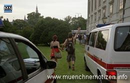 alkoholisierter Demonstrant provoziert weiter