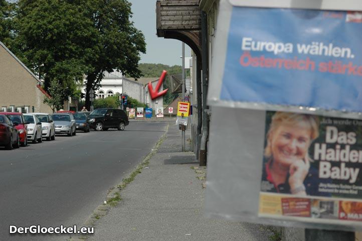 Blau-weiß-rot für ÖVP-Spitzenkandidaten Ernst STRASSER