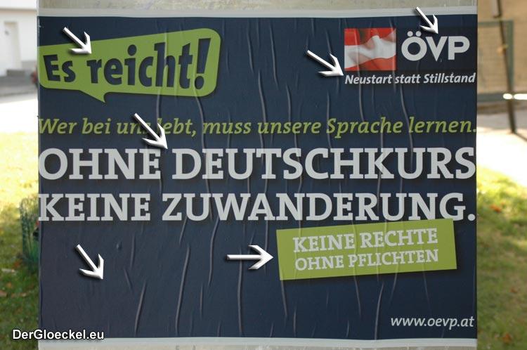 Wahlwerbeplakat der ÖVP zur Nationalratswahl 2008