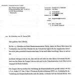Faksimile aus dem Schreiben des Bundesinnenministeriums zur Anzeige gegen die Zeugen Jehovas