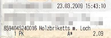 Heizkosten im März 2009