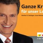 Ministerpräsident Günter Öttinger - CDU
