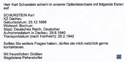 Stellungnahme von Mag. Magdalena Peherstorfer Schloss Hartheim